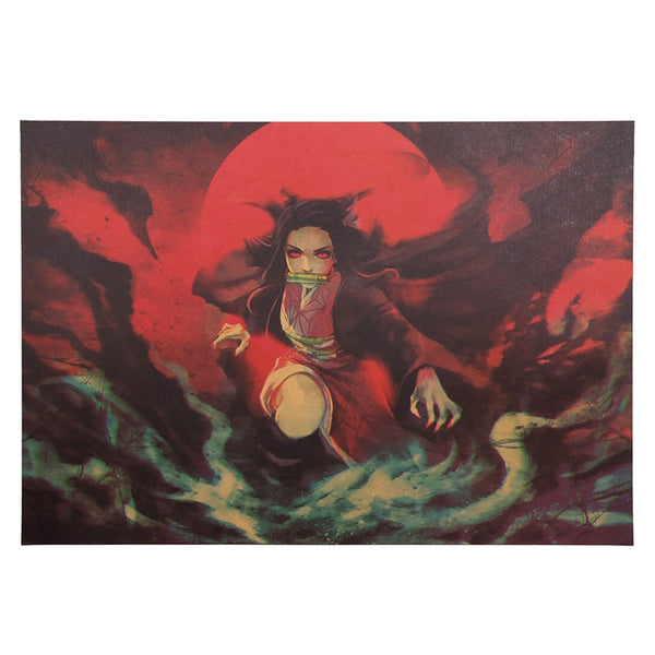 Dark Nezuko Demon Slayer Poster