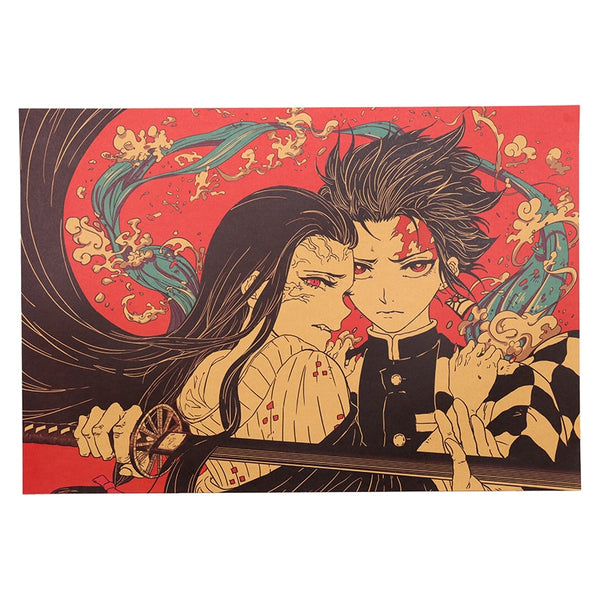 Tanjiro and Nezuko Demon Slayer Poster