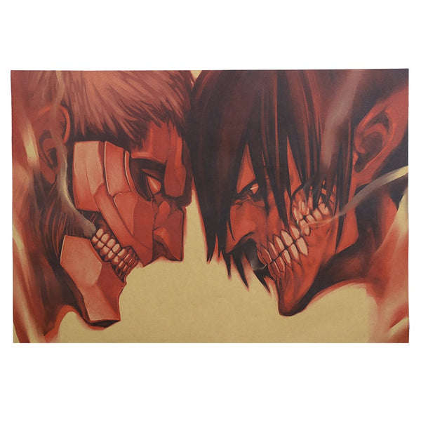 Titan Headbutt Attack On Titan Poster Print