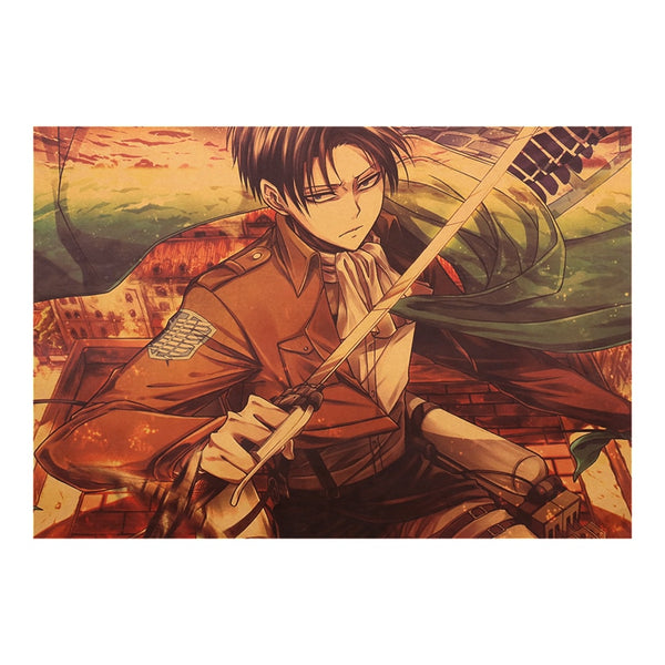 Levi Slice Attack On Titan Poster Print