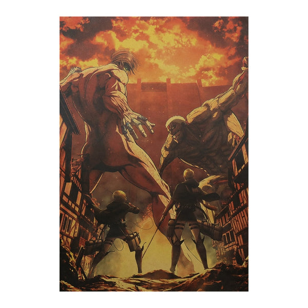 Titan Battle Attack On Titan Poster Print