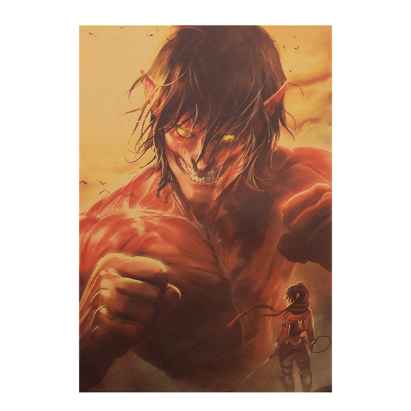 Erin and Mikasa Attack On Titan Poster Print