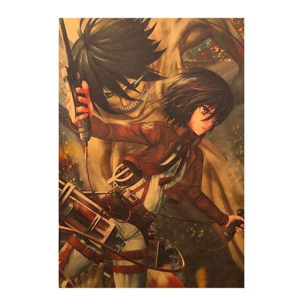 Mikasa Illustrated Attack On Titan Poster Print
