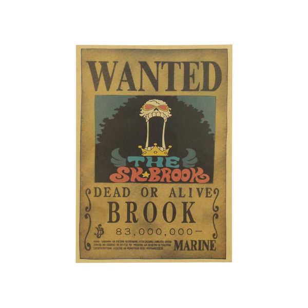 Large Brook One Piece Most Wanted Poster  20x14in (51x36cm)