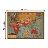 JUMBO Vintage Antique World War Fronts Map Poster  70x50cm