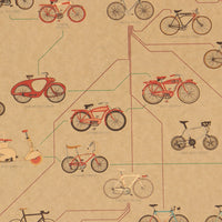 LARGE Evolution of Bicycles Vintage Poster Print