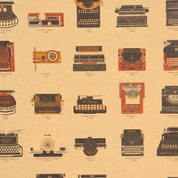 LARGE A Visual Compendium of Typewriters Vintage Poster Print