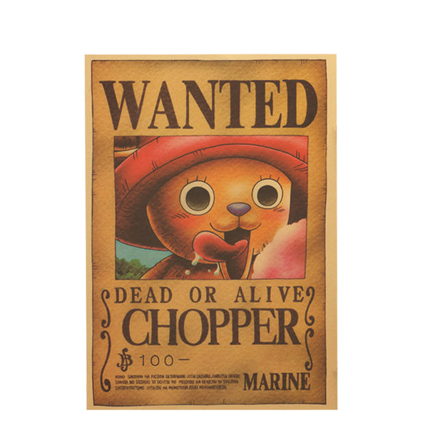 Large Chopper One Piece Most Wanted Poster  20x14in (51x36cm)