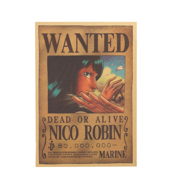 Large Nico Robin One Piece Most Wanted Poster  20x14in (51x36cm)