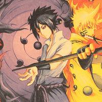 LARGE Sasuke and Naruto Yin and Yang Vintage Poster 20X14in (51.5X36cm)
