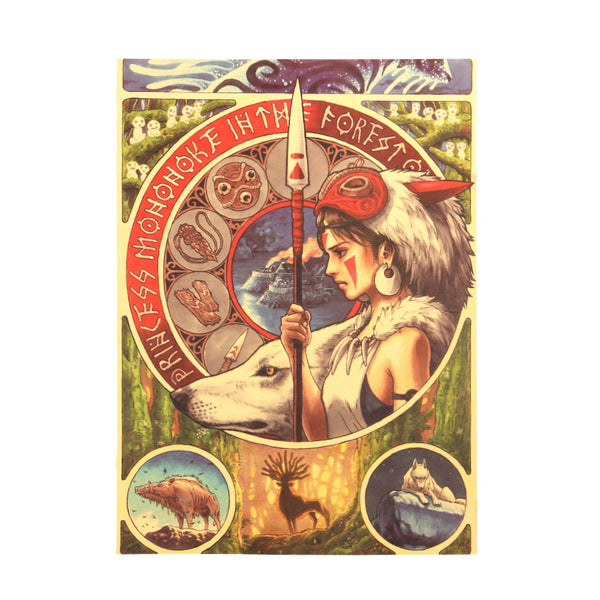 Princess Mononoke Tarot Card Poster 20x14in (51x36cm)