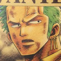 LARGE Roronoa Zoro One Piece Most Wanted Bounty Poster