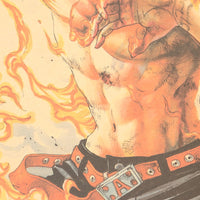 LARGE One Piece Flaming Ace Poster 20x14in (51x36cm)