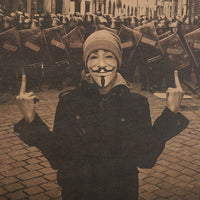 Anonymous Middle Finger Poster