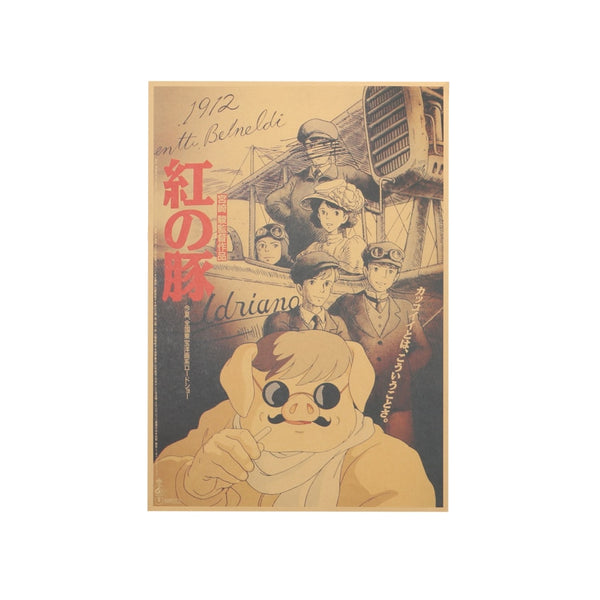 LARGE  Porco Rosso Original Japanese Movie Poster 20x14in (51x36cm)