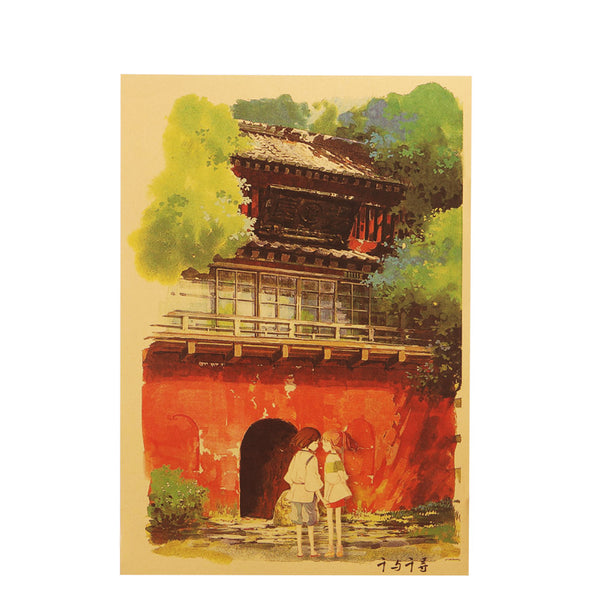 Chihiro and Haku Spirited Away Poster Retro original Japanese Poster