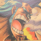 Large Franky One Piece Most Wanted Poster  20x14in (51x36cm)