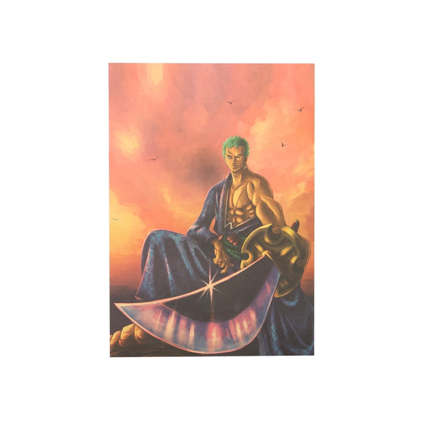 LARGE One Piece Zoro Blade Poster 20x14in (51x36cm)