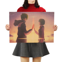 LARGE Your Name Sunset Movie Poster