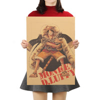 LARGE Monkey D. Luffy Hero Pose Poster