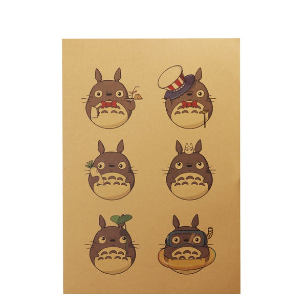 LARGE Totoro Dress up Poster Print