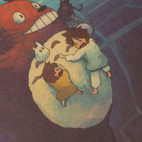 LARGE  My Neighbor Totoro OMBOBON Movie Artwork 20x14in (51x36cm)