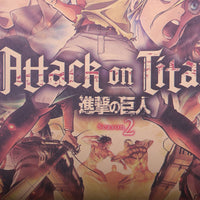 LARGE Attack on Titan Season 2 Vintage Print Poster