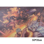LARGE Anime Heroes Mash up Charge Vintage Print Poster
