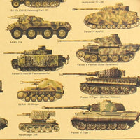 LARGE World War II Tank Vintage Poster Print