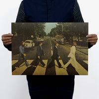 LARGE Vintage Beatles Abbey Road Poster