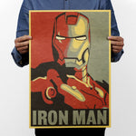 LARGE Iron Man Hope Vintage Poster Print
