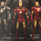 LARGE Iron Man Tony Stark Suit Line up Vintage Print Poster