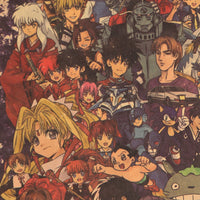 Japanese Anime Collection Assorted Characters Banner