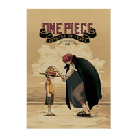 LARGE One Piece Episode of Luffy Vintage Print Poster