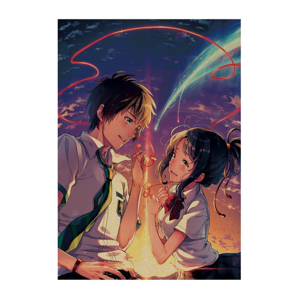 LARGE Your Name Sparks Fly Vintage Movie Poster