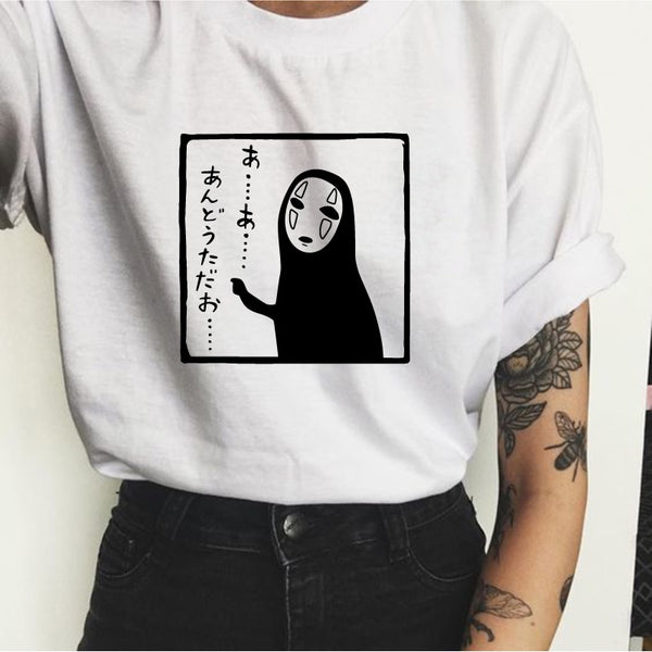 No Face Stamp T Shirt