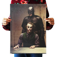 LARGE Batman and The Joker