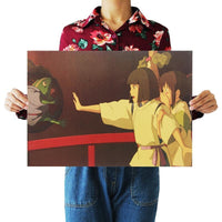 Haku and Chihiro on the Bridge to the Bathhouse poster print (Spirited Away)