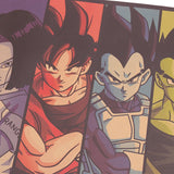 JUMBO Dragon Ball Z Colored Characters Vintage Poster Print 70x39cm
