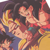 LARGE Dragon Ball Z Goku Throughout the Ages Vintage Print Poster