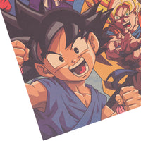 LARGE Dragon Ball Z Goku Throughoutt the Ages Vintage Print Poster