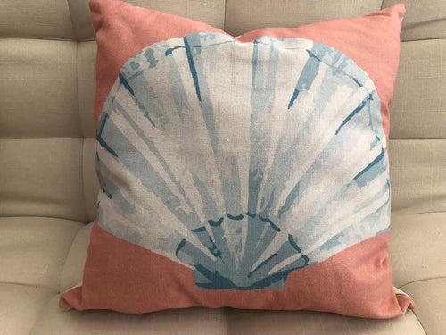 Cojín Decorativo Almeja Turquesa // Turquoise Clam Pillow