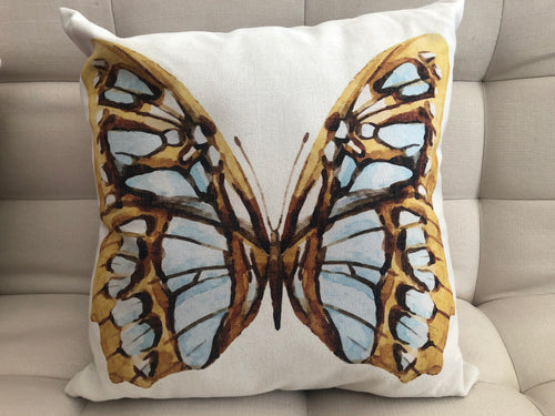 Cojín Decorativo Mariposa Amarilla // Yellow Butterfly Pillow