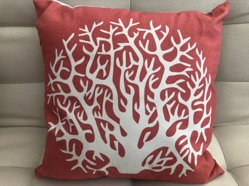 Cojín Decorativo Arrecife Coral // Reef Coral Pillow