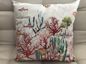 Cojín Decorativo Fondo de Mar Coral // Coral Sea Floor Pillow