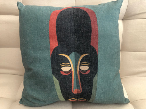 Cojín Decorativo Máscara Azul // Blue Mask Pillow