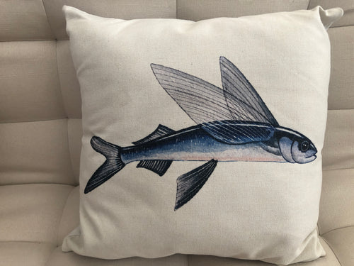 Cojín Decorativo Pez Volador // Flying Fish Pillow