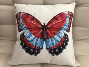 Copy of Cojín Decorativo Mariposa Roja // Red Butterfly Pillow