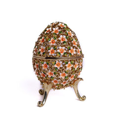 Faberge Egg Decorated with Flowers