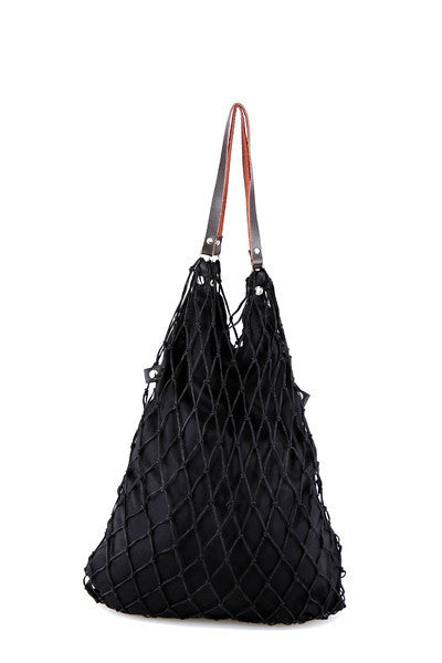 Blusac | Midnight Black Tote תיק